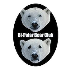 Bi Polar Bear Club - Oval Ornament