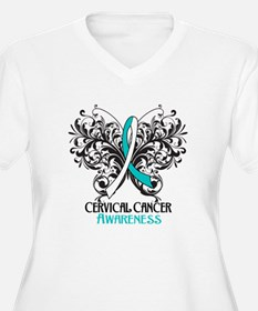 Butterfly Cervical Cancer T-Shirt