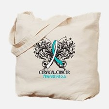 Butterfly Cervical Cancer Tote Bag