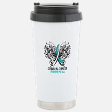 Butterfly Cervical Cancer Travel Mug