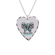 Butterfly Cervical Cancer Necklace Heart Charm