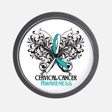 Butterfly Cervical Cancer Wall Clock