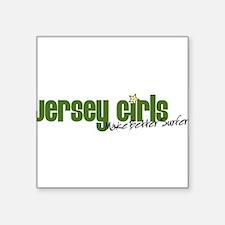 "Jersey Girls Square Sticker 3"" x 3"""