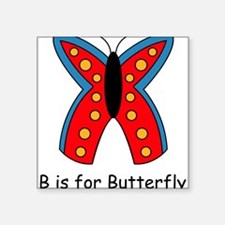 "butterfly10.png Square Sticker 3"" x 3"""