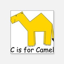 "Camel10.png Square Sticker 3"" x 3"""