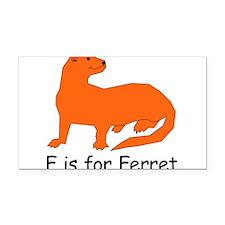 Ferret10.png Rectangle Car Magnet