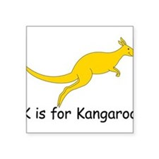 "Kangaroo10.png Square Sticker 3"" x 3"""