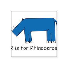 "rhino10.png Square Sticker 3"" x 3"""
