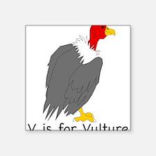 """Vulture 10 Square Sticker 3"""" x 3"""""""