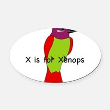 Xenops 10 Oval Car Magnet