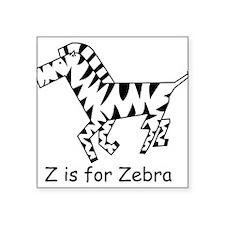 "zebra10.png Square Sticker 3"" x 3"""
