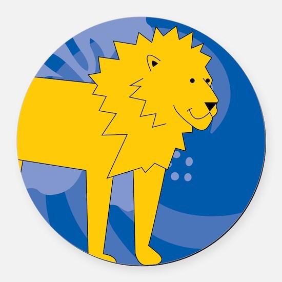 Lion Round Car Magnet