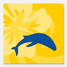 "Whale Square Car Magnet 3"" x 3"""