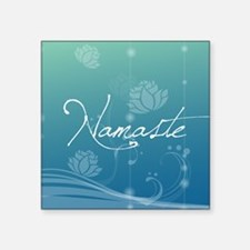 "Namaste Square Sticker 3"" x 3"""