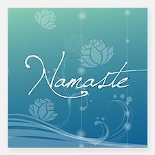 "Namaste Square Car Magnet 3"" x 3"""