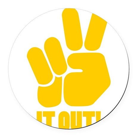 peaceitout10.png Round Car Magnet
