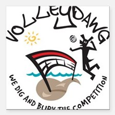 """volleydawg 10 Square Car Magnet 3"""" x 3"""""""