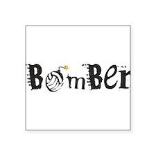 "Bomber 10 Square Sticker 3"" x 3"""