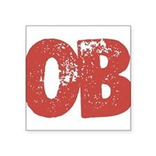 "OB Square Sticker 3"" x 3"""