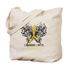 Butterfly Childhood Cancer Tote Bag