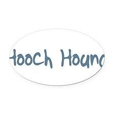 HoochHound10.png Oval Car Magnet