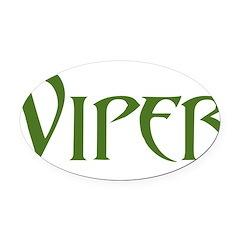 Viper Black T-Shirt Oval Car Magnet