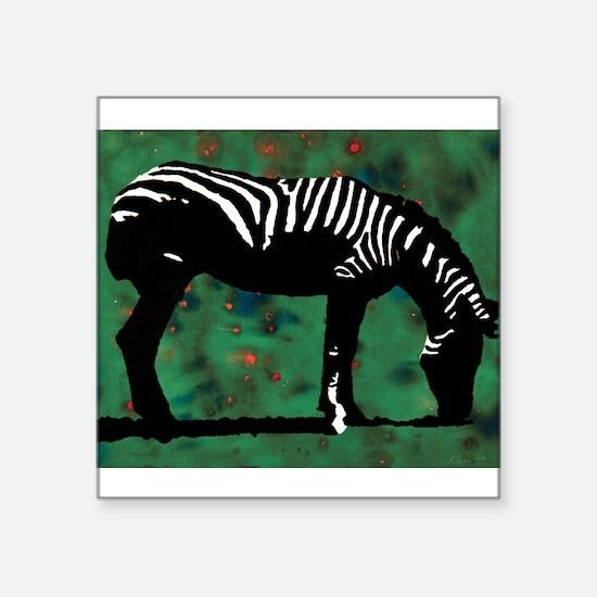 "Zebra 10 Square Sticker 3"" x 3"""