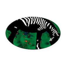 Zebra 10 Oval Car Magnet