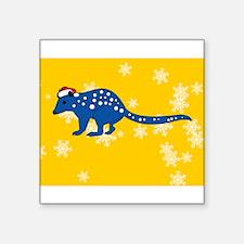 "Unique Personalized christmas decorations Square Sticker 3"" x 3"""