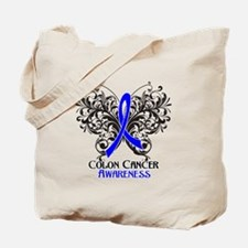 Butterfly Colon Cancer Tote Bag
