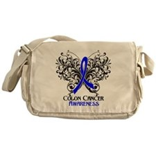 Butterfly Colon Cancer Messenger Bag