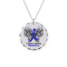 Butterfly Colon Cancer Necklace