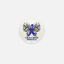 Butterfly Colon Cancer Mini Button (10 pack)