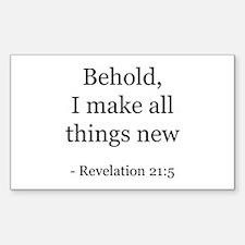 Revelation 21:5 Rectangle Decal