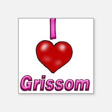 "I heart grissom Square Sticker 3"" x 3"""