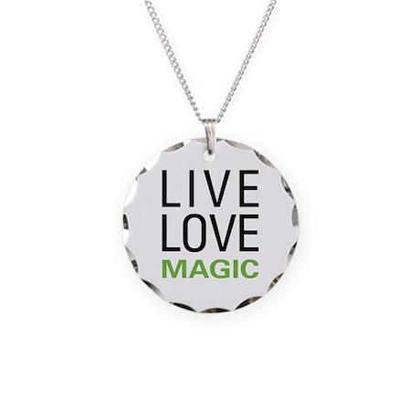 Live Love Magic Necklace Circle Charm