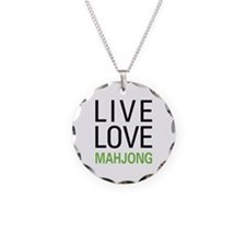 Live Love Mahjong Necklace