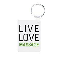 Live Love Massage Keychains