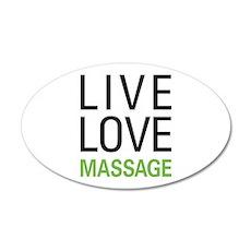 Live Love Massage 22x14 Oval Wall Peel