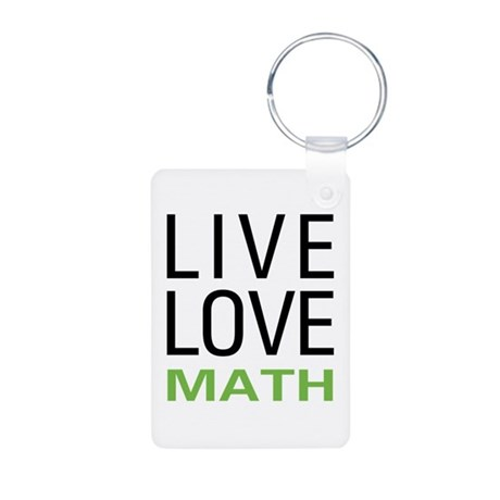 Live Love Math Aluminum Photo Keychain