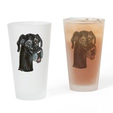 Blk Winker Drinking Glass