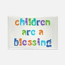 CHILDREN ARE A BLESSING Rectangle Magnet