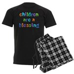 CHILDREN ARE A BLESSING Men's Dark Pajamas