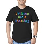 CHILDREN ARE A BLESSING Men's Fitted T-Shirt (dark