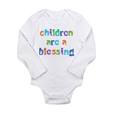 CHILDREN ARE A BLESSING Long Sleeve Infant Bodysui