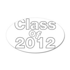2012 Graduation 38.5 x 24.5 Oval Wall Peel