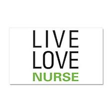 Live Love Nurse Car Magnet 20 x 12