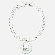 Live Love Nutrition Charm Bracelet, One Charm