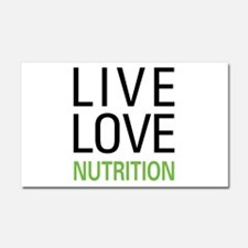 Live Love Nutrition Car Magnet 20 x 12