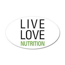 Live Love Nutrition 22x14 Oval Wall Peel